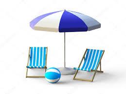 Beach Umbrella And Chair Beach Chair And Umbrella U2014 Stock Photo Tomisl Z 3593637