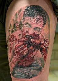 3d zombi design for half sleeve tattoo ideas for men tattoos