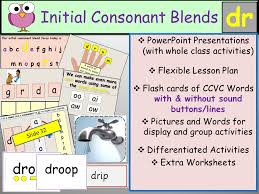 phonics initial consonant blend dr ccvc words presentations