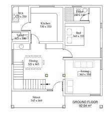 1500 square feet 2 bedroom contemporary modern double floor home