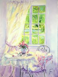 good morning bright painting morning flowers roses