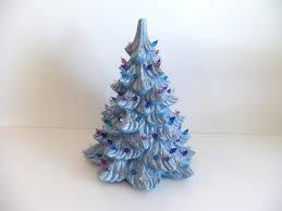 labor day sale vintage ceramic tree blue on etsy 29 25