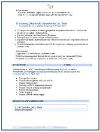 Sample Resume For Freshers Mba Finance And Marketing Ideas Collection Sample Resume For Mba Marketing Experience In