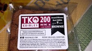 thc edible award winner best edible brownie tko edibles 200 mg thc lab tested