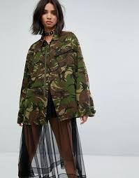 2017 spring and summer style milk it vintage camo jacket with back