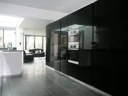 High Gloss Black Kitchen Cabinets High Gloss Black Parapan Kitchen Doors Emerson Living