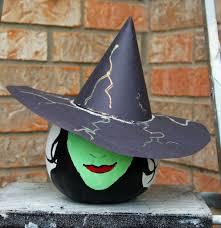 halloween witch crafts painted witch pumpkin craft ideas halloween pinterest