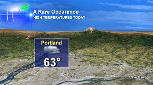 Portland Weather Map by It Happened Thursday Mount Hood Is 20 Degrees Warmer Than