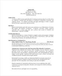 Sample Hr Assistant Resume by Sample Admin Assistant Resume 9 Examples In Word Pdf