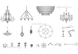 Stair Cad Block by Lamps And Chandeliers Free Autocad Blocks Download Dwg File