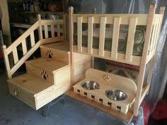 elevated dog bed with stairs by thhcreations on etsy critters