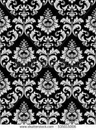 golden vector pattern on black background stock vector 684776593