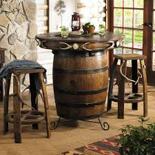 Pub Bar Table Antler Barrel Pub Table Bar Stools