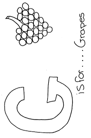 letter g coloring page classic letter g coloring page free