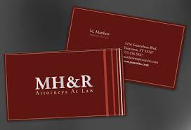 business card template for design for attorney and legal firms