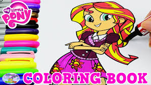 my little pony coloring book mlp eg sunset shimmer episode