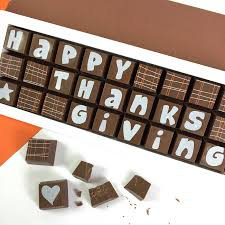thanksgiving chocolates happy thanksgiving gift in chocolate by chocolate by cocoapod