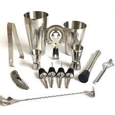 barware sets premium shaker barware set 13 pieces bartender kit includes shaker