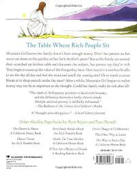 Missing Man Table Script The Table Where Rich People Sit Aladdin Picture Books Byrd