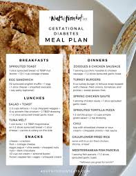 diabetic lunch meals gestational diabetes meal plan a nutritionist eats