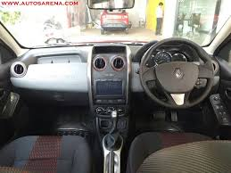 renault duster 2016 interior renault duster xtronic cvt launch soon price images all details