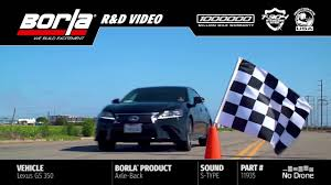 youtube lexus gs 350 borla exhaust for 2014 2016 lexus gs 350 youtube