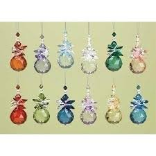 birthstone ornaments buy pack of 36 inspirational jeweled birthstone angel christmas