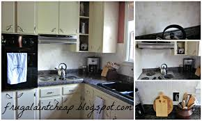 frugal ain u0027t cheap kitchen backsplash great for renters too