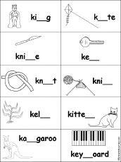 letter k alphabet activities at enchantedlearning
