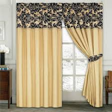 Black And Cream Damask Curtains Luxury Damask Curtains Pair Of Half Flock Pencil Pleat Window