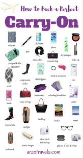 10 Must Carry On Essentials by What To Pack In Your Carry On Free Travel Checklist