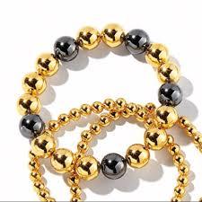 multi metal bracelet images Gorjana jewelry newport large multi metal bead bracelet poshmark jpg