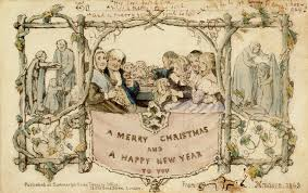images of victorian christmas cards what the victorians read at christmas victoria and albert museum