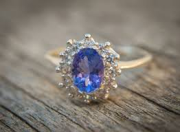 natural tanzanite rings images Natural tanzanite engagement ring with white sapphire accents jpg