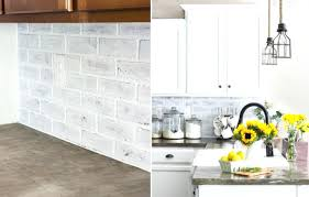 brick backsplash in kitchen faux brick backsplash in kitchen kitchens whitewashed faux brick