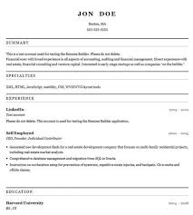 Cv Resume Online by Resume Creator Online For Free Resume For Your Job Application
