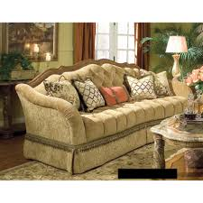 michael amini villa valencia wood trim tufted sofa by aico for