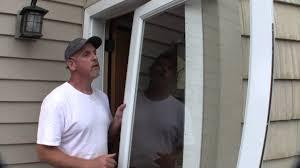 full view glass door install a larson storm door youtube