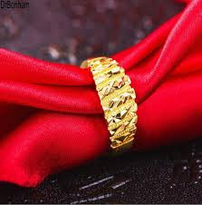 aliexpress buy gents rings new design yellow gold 2017 new design 3d engrave 24k gold rings for women men gold color