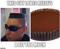 Black Guy With Glasses Meme - this guy loves reese s a bit too much meme