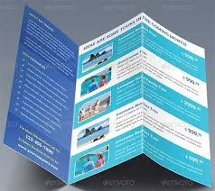 tri fold brochure template free download travel brochure templates