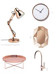 rosegold and copper magho living interior design blog home