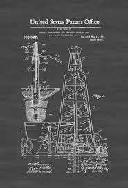 drilling rig patent 1911 patent print office decor industrial
