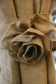 Burlap Drapery Burlap Flower Curtain Tie Backs Oh I Love This They Would Be So