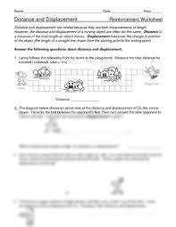 distance vs displacement worksheet free worksheets library