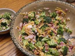 broccoli salad cheddar cheese raisins sun flower