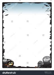 halloween frame border page pumpkin skull stock vector 501038827