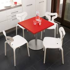 interior fabulous modern contoured polypropylene dining table