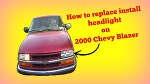 how to install change replace headlight bulb on 2000 chevy blazer