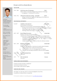 exle of resume format for resume format for sle of biodata for application